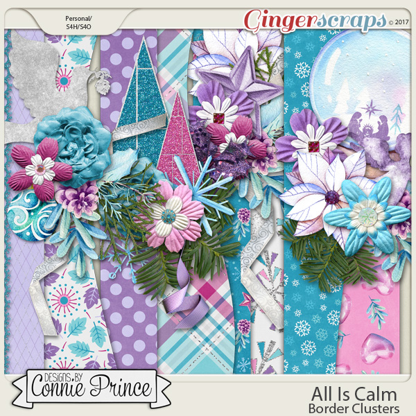 All Is Calm - Border Clusters by Connie Prince
