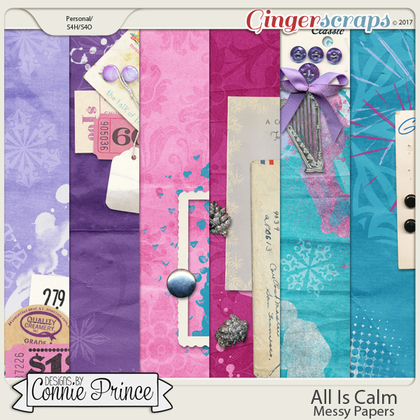 All Is Calm - Messy Paper Pack by Connie Prince