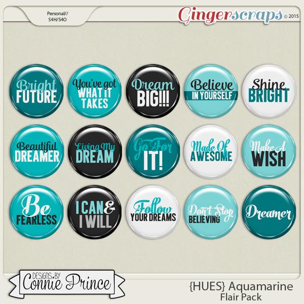 {HUES} Aquamarine - Flair Pack