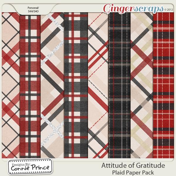 Retiring Soon - Attitude Of Gratitude - Plaid Paper Pack