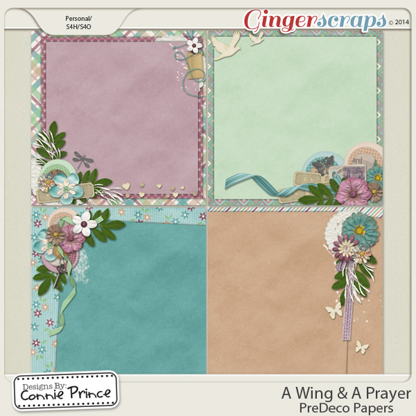 A Wing & A Prayer - PreDeco Papers