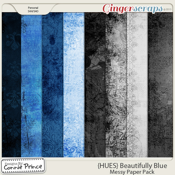{HUES} Beautifully Blue - Messy Papers