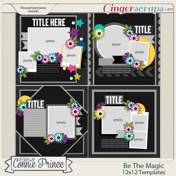 Be The Magic - 12x12 Templates (CU Ok)