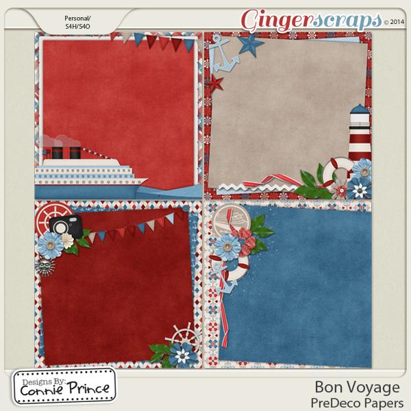 Bon Voyage - PreDeco Papers