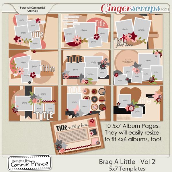 Retiring Soon - Brag A Little - Vol 2: 5x7 BragBook Templates (CU Ok)