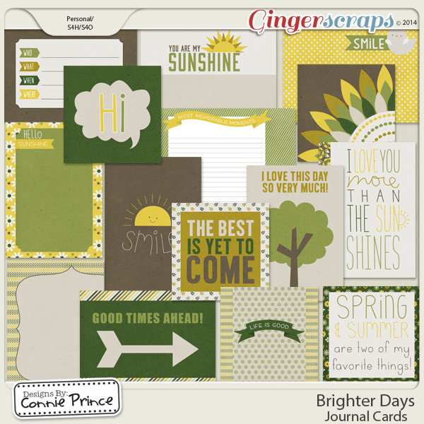 Brighter Days - Journal Cards
