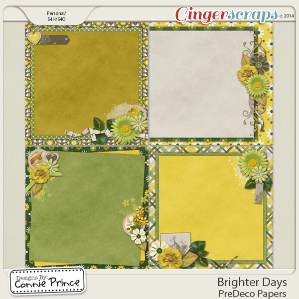 Brighter Days - PreDeco Papers