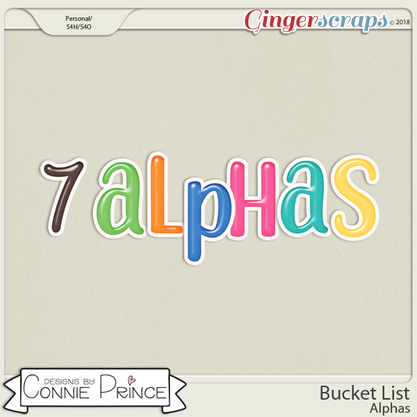 Bucket List- Alpha Pack AddOn by Connie Prince
