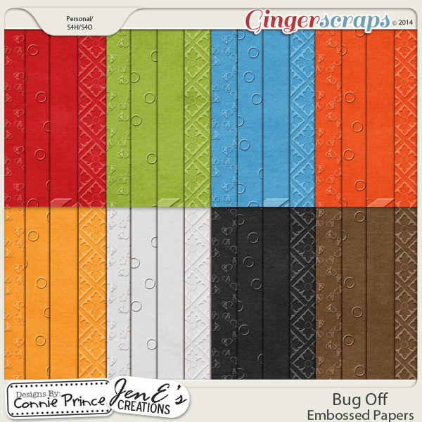 Bug Off - Embossed Papers