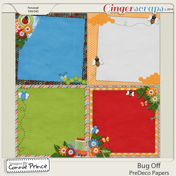 Bug Off - PreDeco Papers