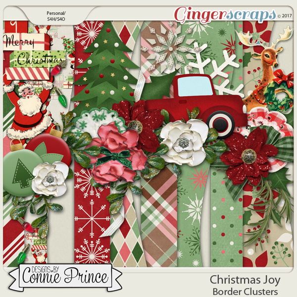 Christmas Joy - Border Clusters