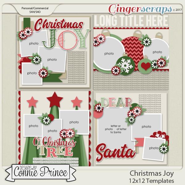 Christmas Joy - 12x12 Temps (CU Ok)