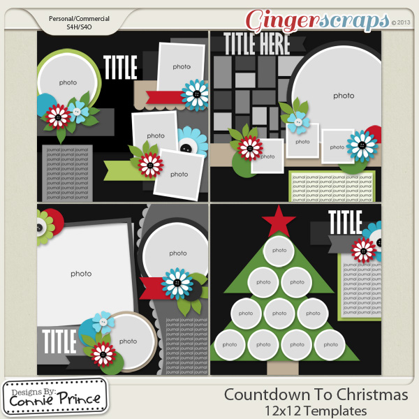 Countdown To Christmas - 12x12 Temps (CU Ok)