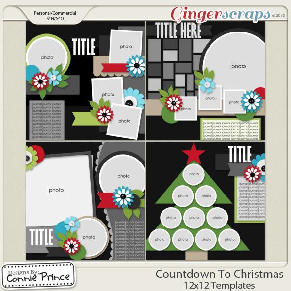 Countdown To Christmas - 12x12 Temps (CU Ok)