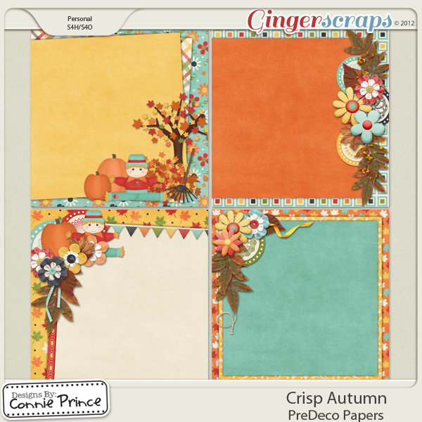 Crisp Autumn - PreDeco Papers