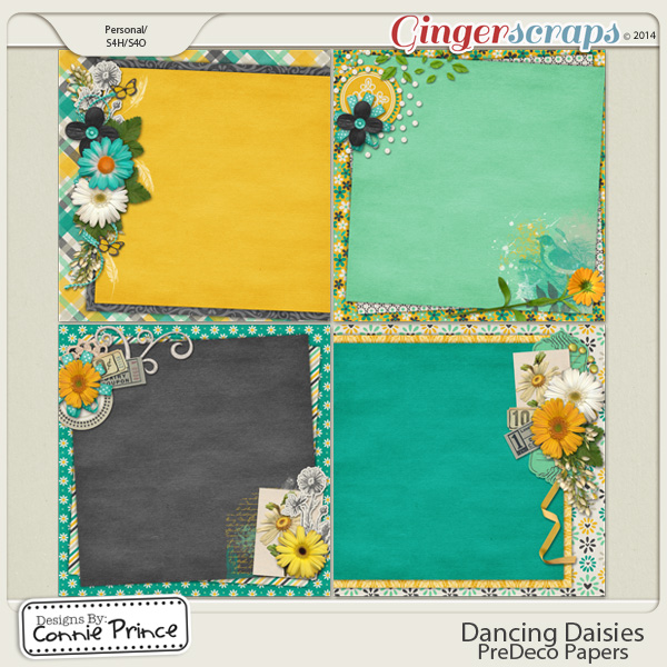 Dancing Daisies - PreDeco Papers