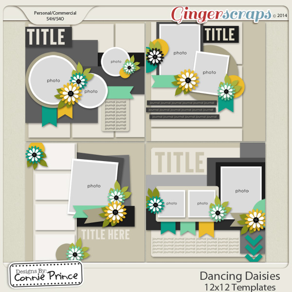 Dancing Daisies - 12x12 Temps (CU Ok)