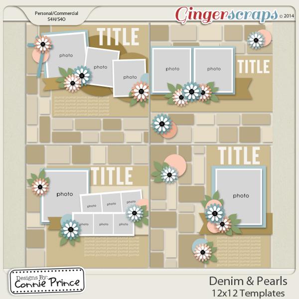 Retiring Soon - Denim & Pearls - 12x12 Temps (CU Ok)