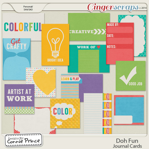 Doh Fun - Journal Cards