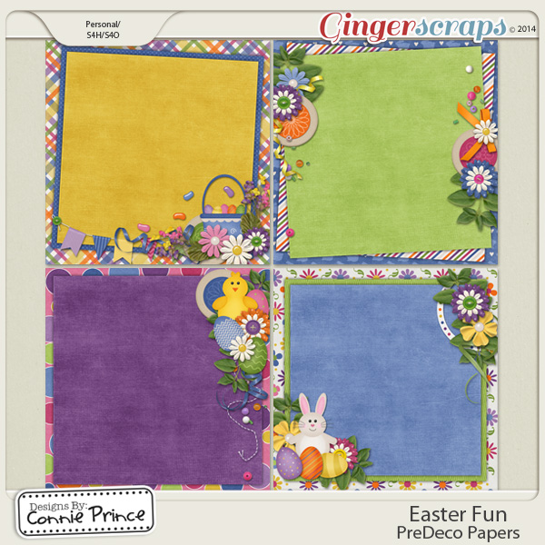 Easter Fun - PreDeco Papers