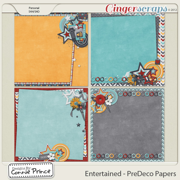 Retiring Soon - Entertained - PreDeco Papers