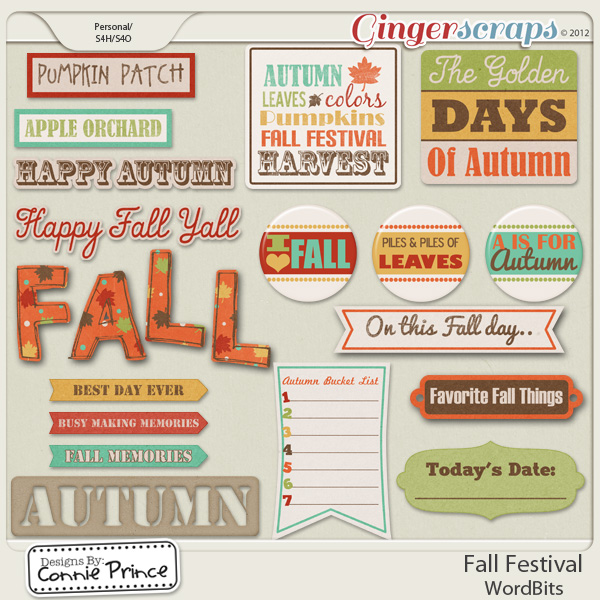 Fall Festival - WordBits