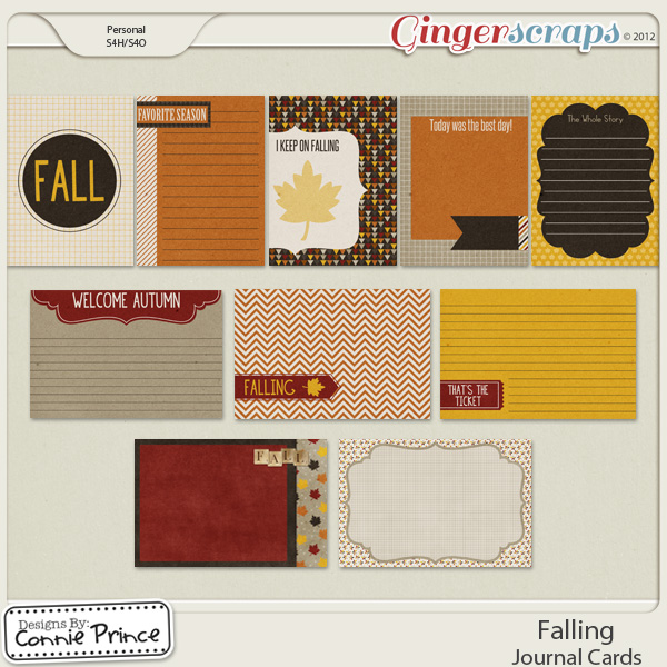 Falling - Journal Cards