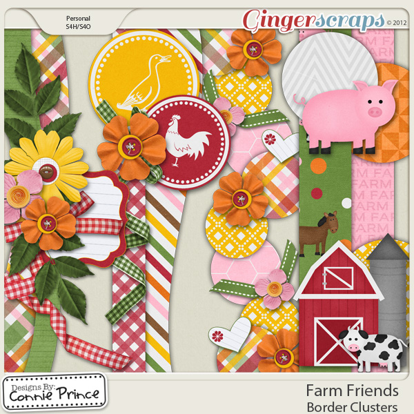 Farm Friends -  Border Clusters