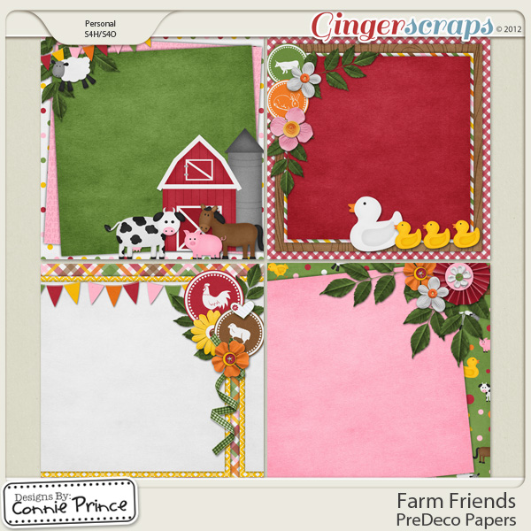 Farm Friends - PreDeco Papers