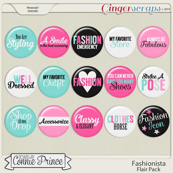 Fashionista - Flair Pack