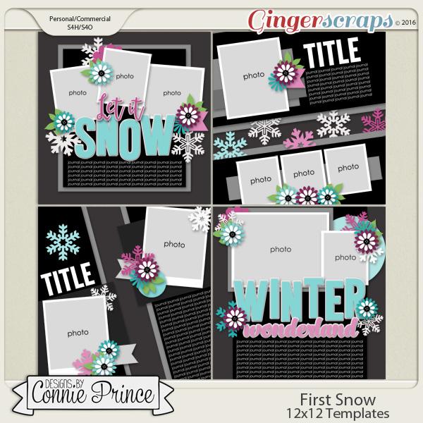 First Snow  - 12x12 Templates (CU OK)