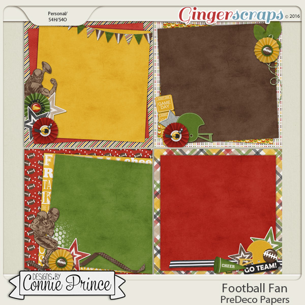 Football Fan - PreDeco Papers