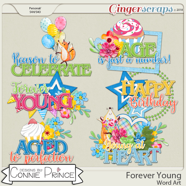 Forever Young - WordArt Pack by Connie Prince