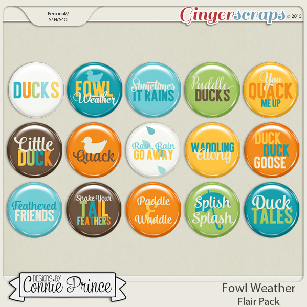 Fowl Weather - Flair Pack