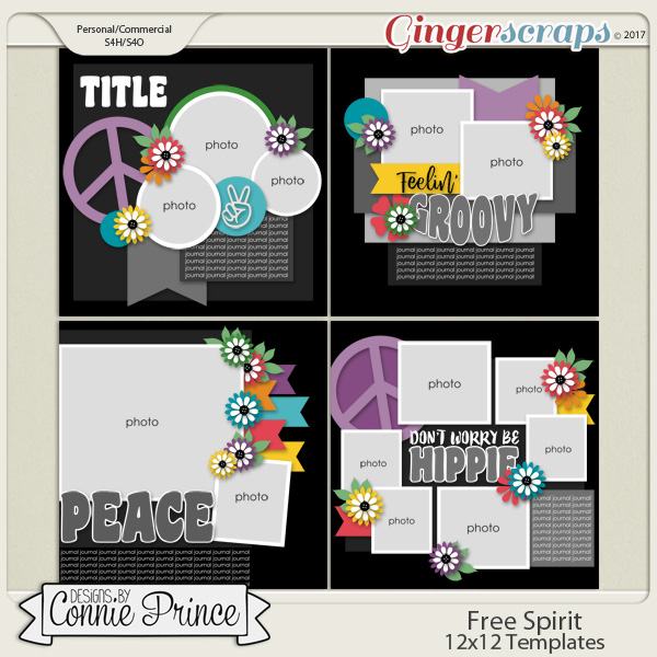 Free Spirit - 12x12 Templates (CU Ok)