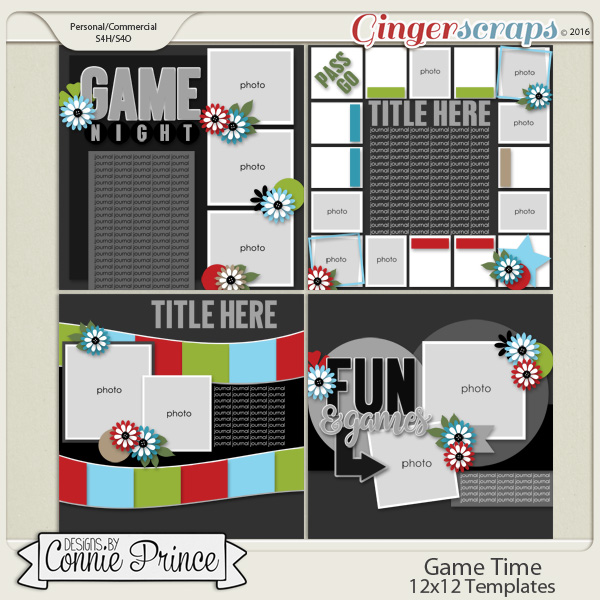 Game Time - 12x12 Templates (CU Ok)