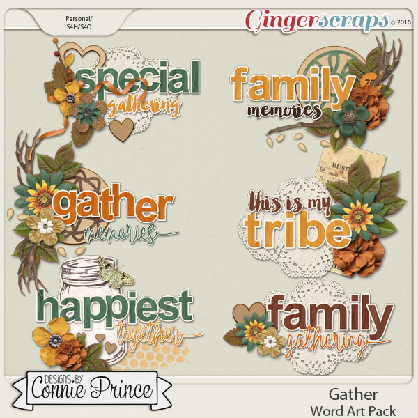 Gather - WordArt Pack