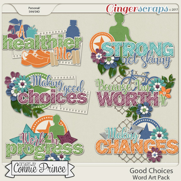 Good Choices - Word Art Pack