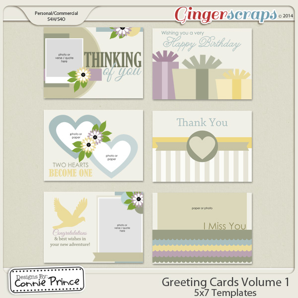 Retiring Soon - Greeting Card Volume 1 - 5x7 Temps (CU Ok)
