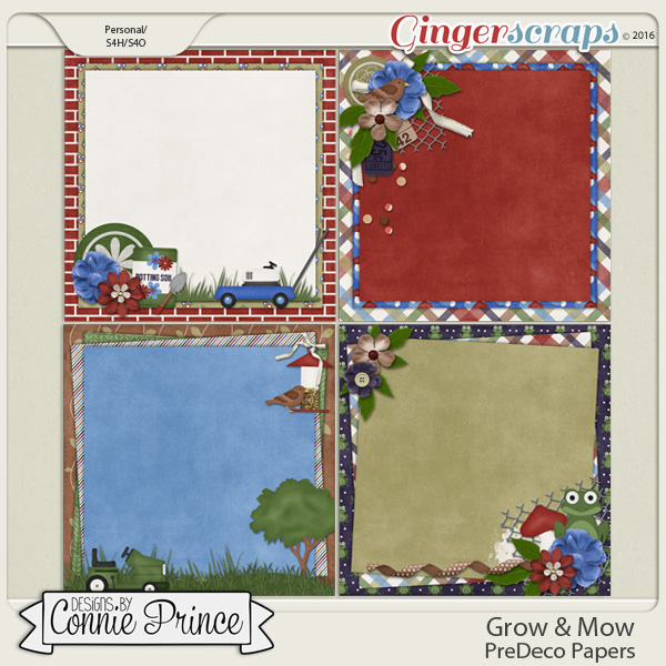 Grow & Mow - PreDeco Papers