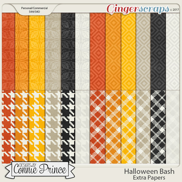Halloween Bash - Extra Papers