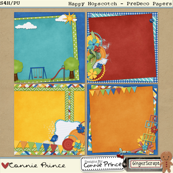 Happy Hopscotch - PreDeco Papers Pack