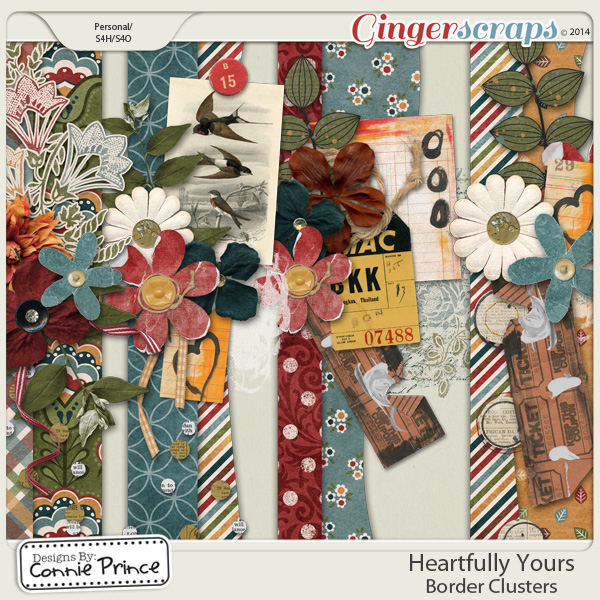 Heartfully Yours - Border Clusters