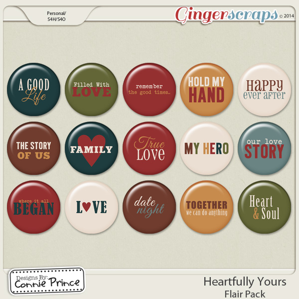 Heartfully Yours - Flair Pack