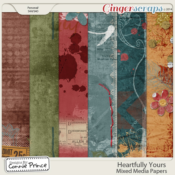 Heartfully Yours - Mixed Media Paper Pack