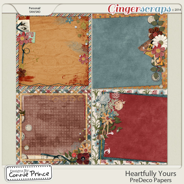 Heartfully Yours - PreDeco Papers