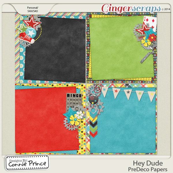 Hey Dude - PreDeco Papers