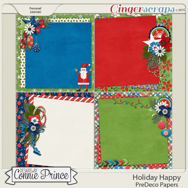 Holiday Happy - PreDeco Papers