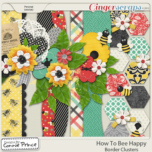 How To Bee Happy - Border Clusters