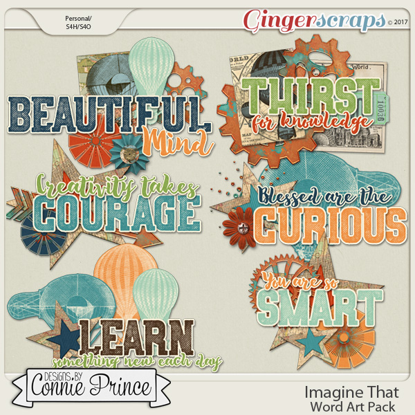 Imagine That - WordArt Pack